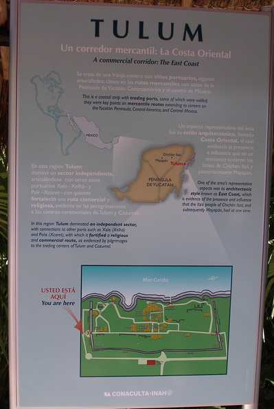 map of Tulum ruins site