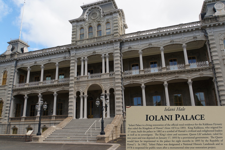 Iolani Palace, home of the last king of Hawaii