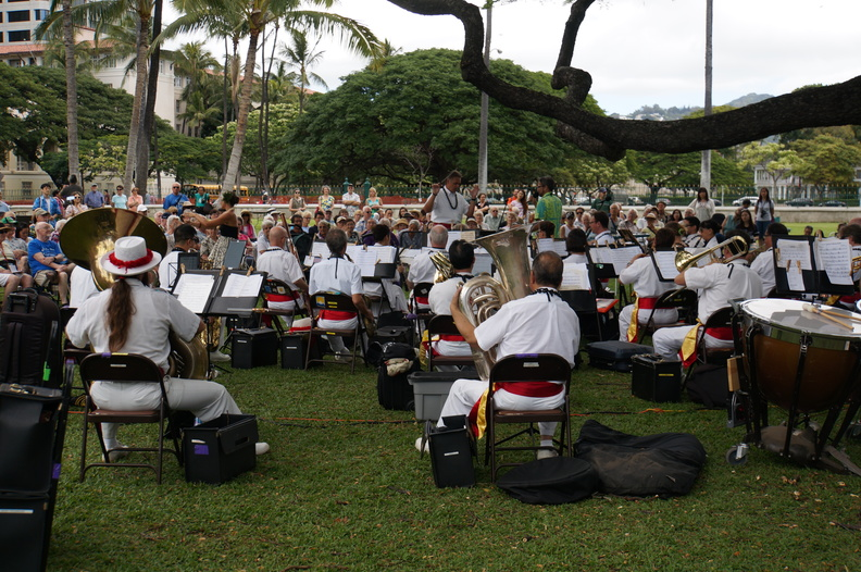noon time concert by the Royal Hawaiian orchestra
