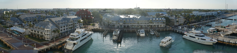We woke up to this view of Key West.