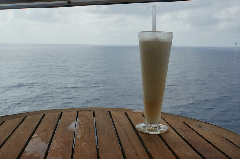 Even a cloudy Caribbean day at sea is better than a freezing cold day at home.