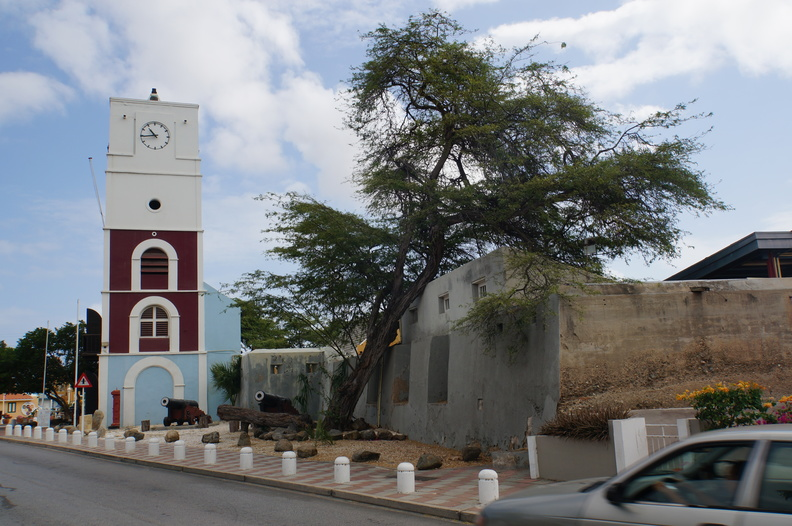 old fort in Aruba, now in the downtown area