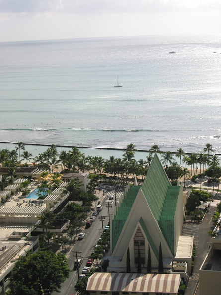 Waikiki from our hotel room
