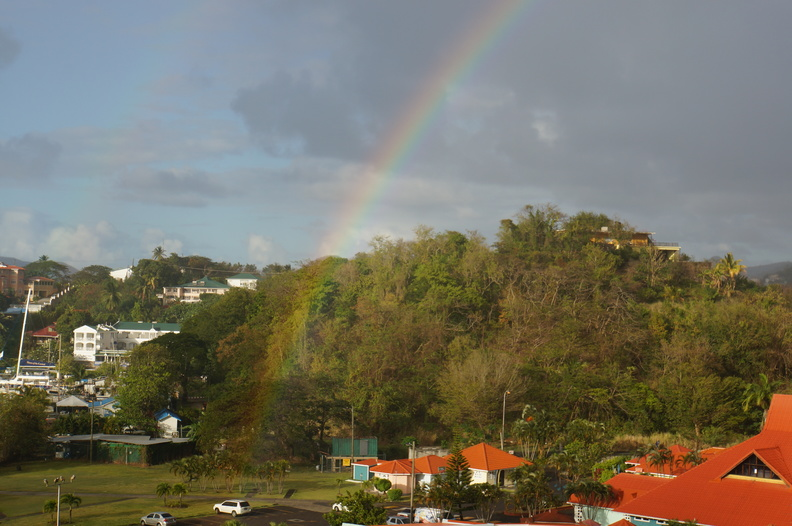 rainbow in St Lucia
