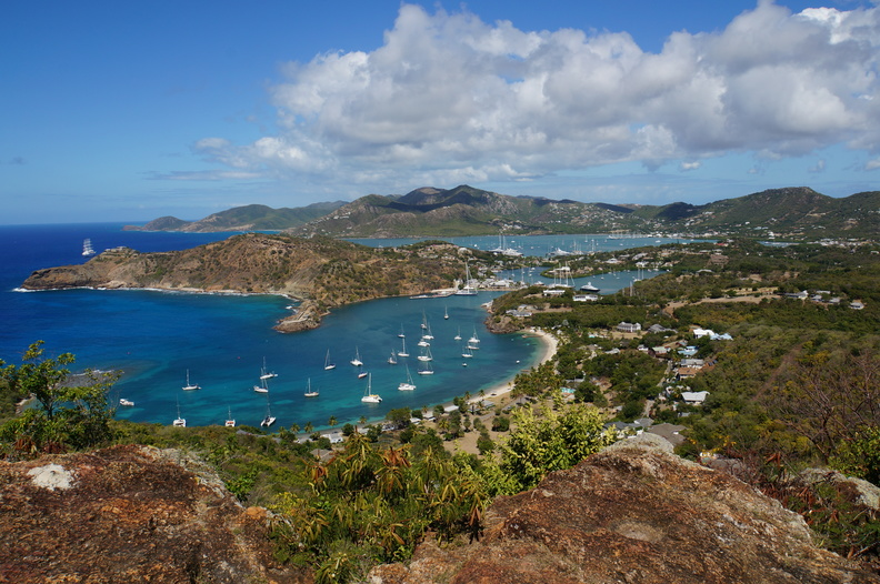 overlooking Nelson's dockyard, Antigua