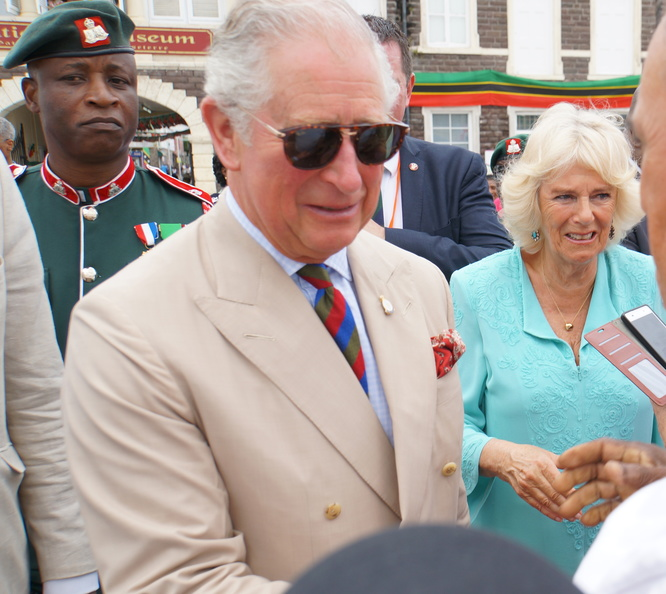 HRH Prince Charles & Camilla in St Kitts