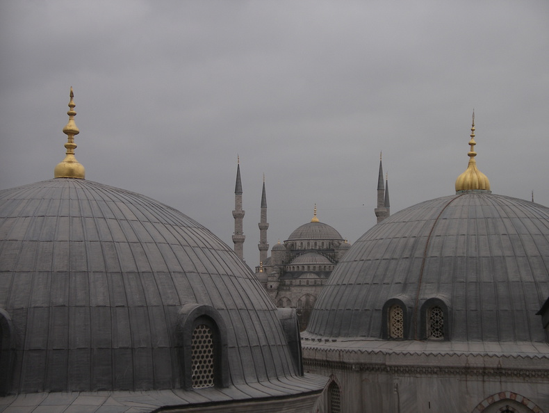 from a window on St Sophia's, looking towards the blue mosque