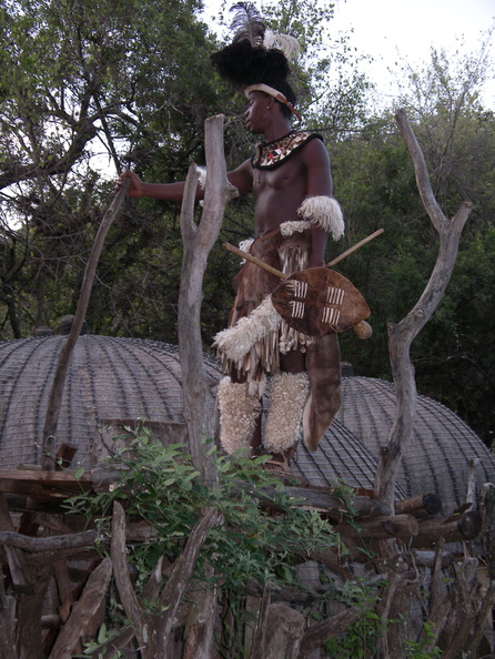 Zulu village guard