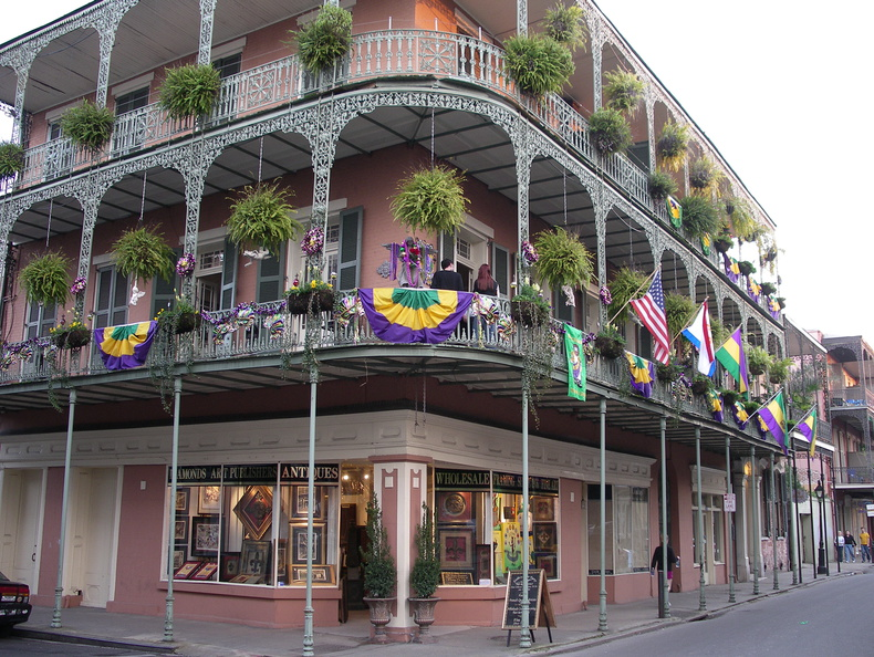 Decorated for Mardi Gras