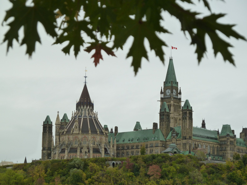 Parliament hill showing library building