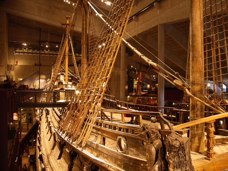 Deck of Vasa looking aft on starboard