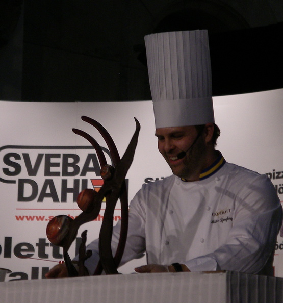 chef at chocolate festival