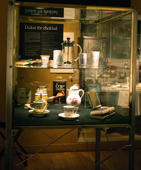 chocolate display in museum