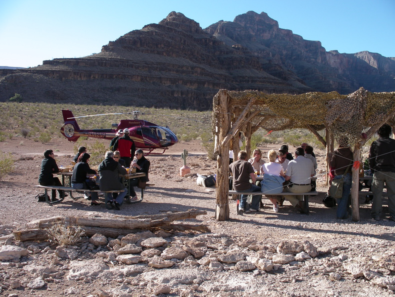 Breakfast at the Grand Canyon