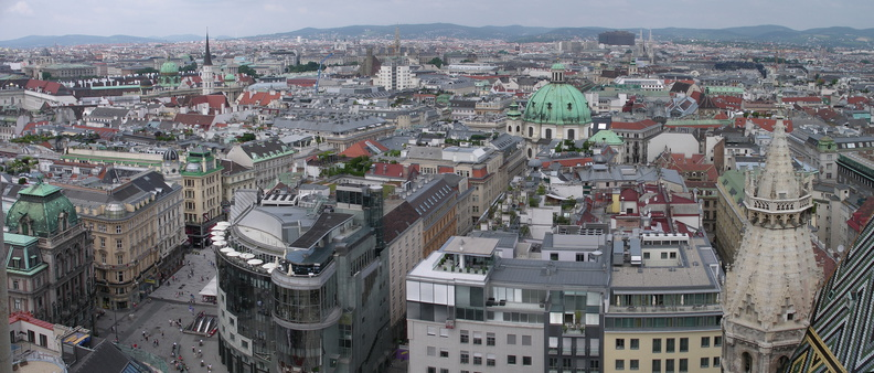 Vienna from St Stephans bell tower