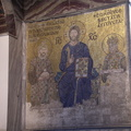 various kings had their pictures in gold mosaic with Christ